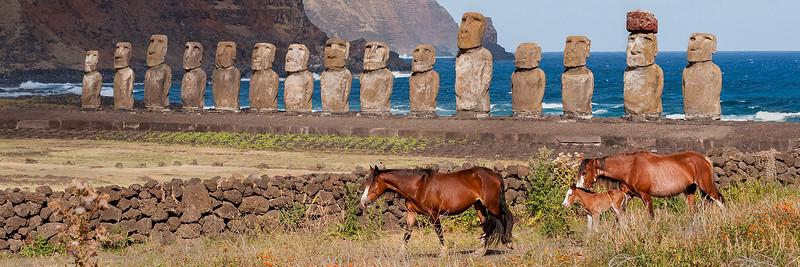 Moai & Horses #1