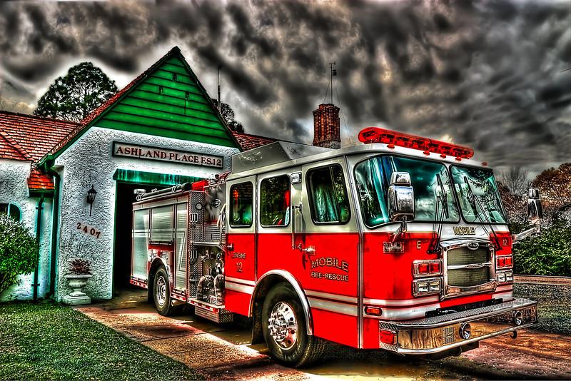 Ashland Firetruck at the Ashland Station in Mobile Alabama.