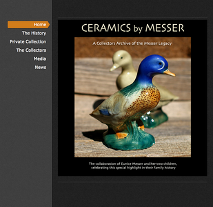 LOGO DESIGN by Sandra Miller   ©CERAMICS BY MESSER