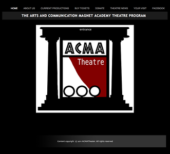 LOGO and WEBSITE DESIGN by Sandra Miller  2011 ACMA THEATRE COMPANY (Pending site approval)