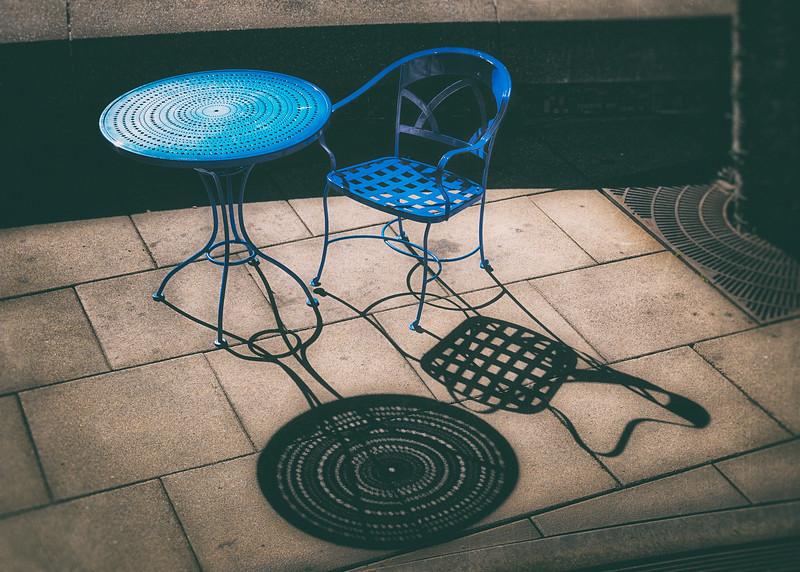 Blue Table & Chair