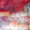 """River Dream""<br /> acrylic & mixed media on wood<br /> 32"" x 48""<br /> <br /> *Sold"