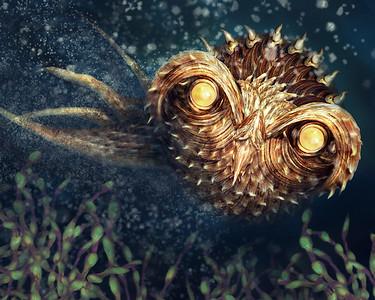 Spiky Squid Owl