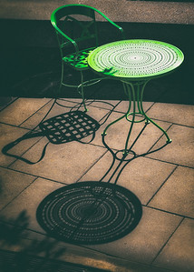 Green Table & Chair