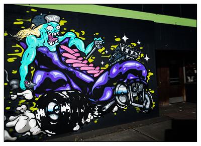 Wall mural in White Center, Washington.