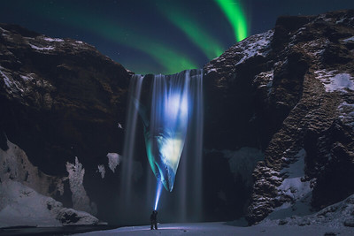 Ghostly Shark of The Northern Lights