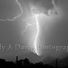 Monsoon Season. Lightening illuminates the <br /> nighthawks over the Santa Catalinas.