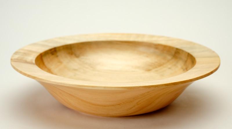 small Poplar bowl  7 1/4 diameter 1 3/4 high  $25