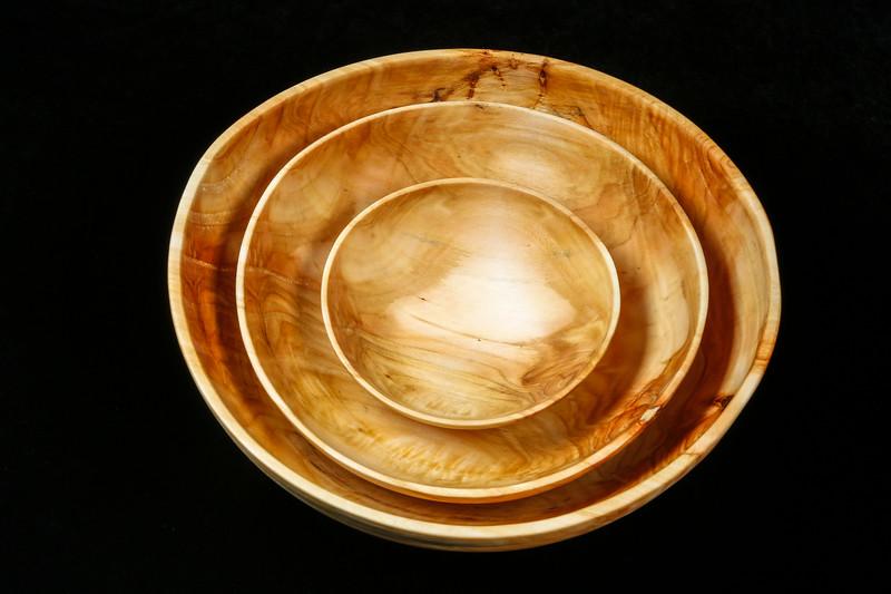 "Poplar Bowl Set  12"" x 11 1/2"" X 4 1/4"" (large bowl) - $165"