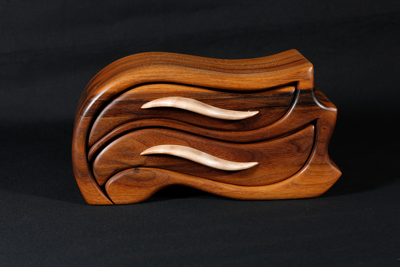 Walnut with Curly Maple pulls