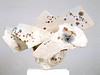 Pedestal Piece 989, 1989.  26.5 x 38 x 11 in.  Low-fire salt, unglazed, white slips, wheel thrown and altered.