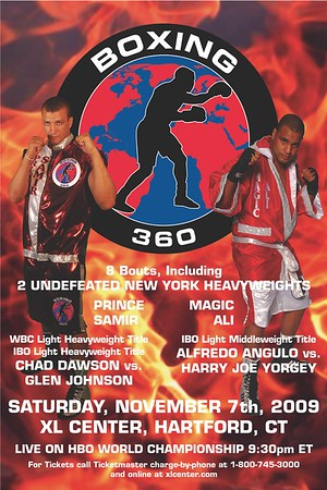 Boxing 360 Event Poster