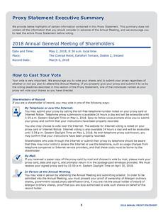 Proxy Statement Page Sample