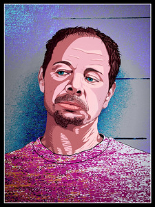 Painted in Clip Studio Paint, finished in Adobe Photoshop. Reference image comes from an online mug shot.