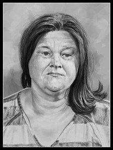Painted in Corel Painter, finished in Adobe Photoshop. Reference image comes from an online mug shot.