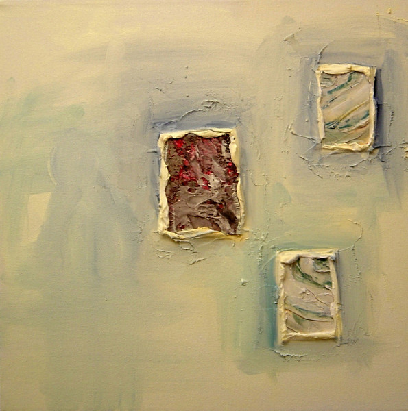 """Earth Windows 3""<br /> acrylic & mixed media on canvas<br /> 16"" x 16"""