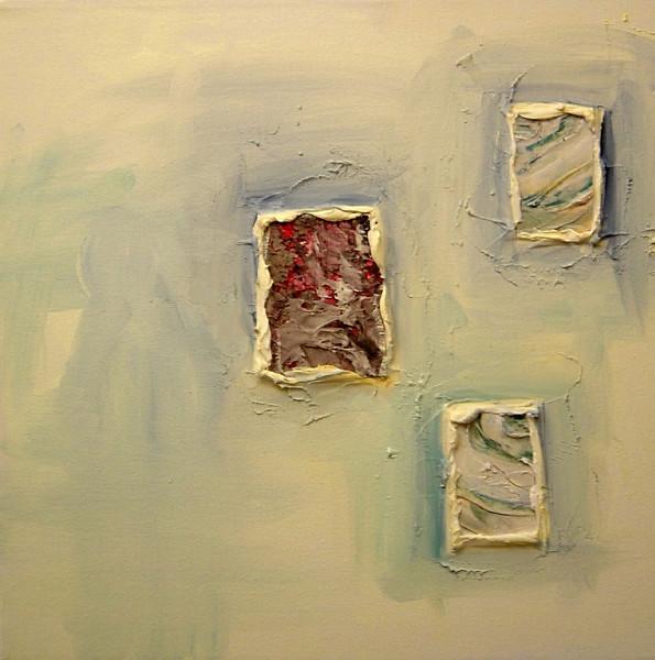 """""""Earth Windows 3""""<br /> acrylic & mixed media on canvas<br /> 16"""" x 16"""""""
