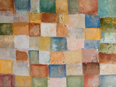 """Patchwork"" acrylic & mixed media on canvas 18"" x 24"""