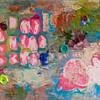 """""""The Other Half""""<br /> acrylic, photographs, & texture medium on canvas<br /> 9"""" x 12"""""""