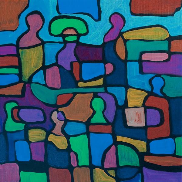 """acrylic on canvas<br /> 12 """" x 12"""""""
