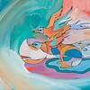"""Flight""<br /> acrylic on canvas<br /> 16"" x 20"""