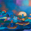 "SOLD<br /> ""Ships Passing""<br /> acrylic on canvas"