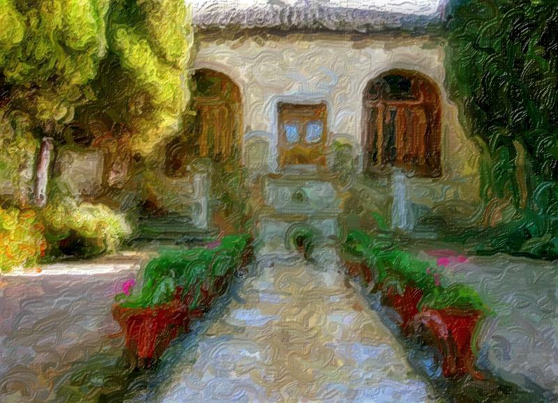 Garden, Toledo, Spain