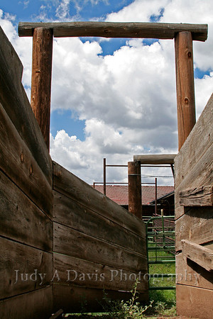 Cattle chute, VbarV Ranch, Flagstaff, Arizona, Judy A Davis Photography