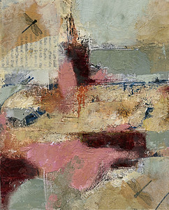 Alexandria,  SOLD collage painting