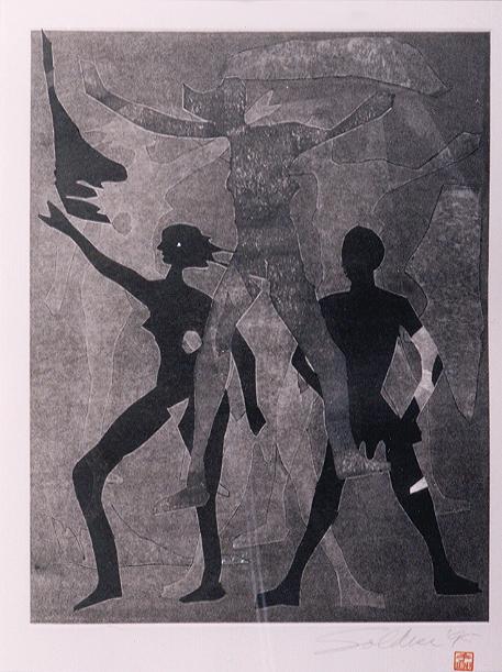 Monoprint, 1999.  (9938)