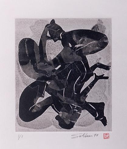 Monoprint, 1999.  (9939)