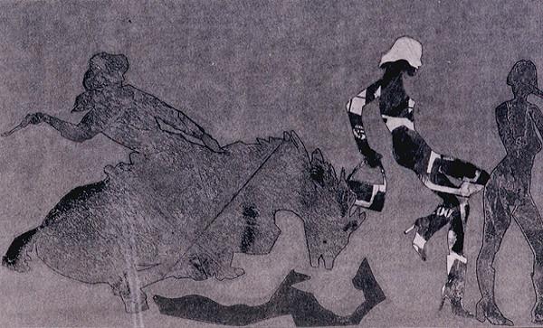 Monoprint, 1999.  (9936)