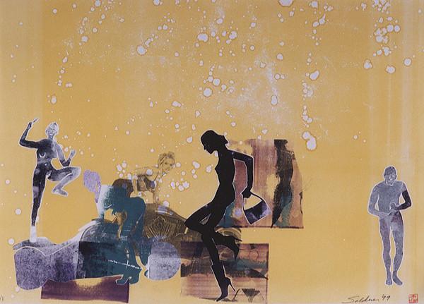 Monoprint, 1999.  (9940)