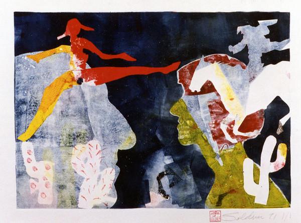 Monoprint, 1990.  11.75 x 16.5 in. (9050)