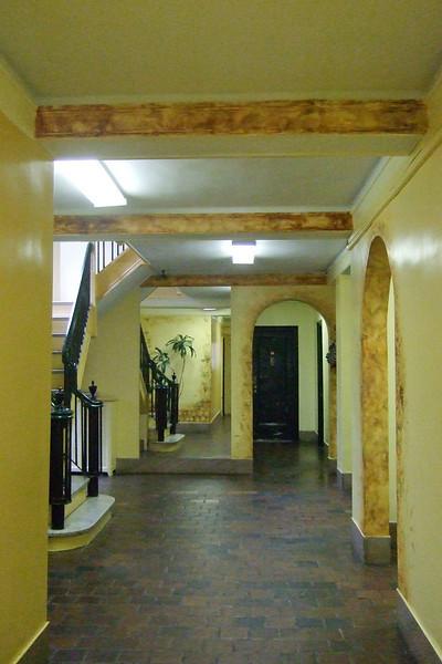 entering the lobby