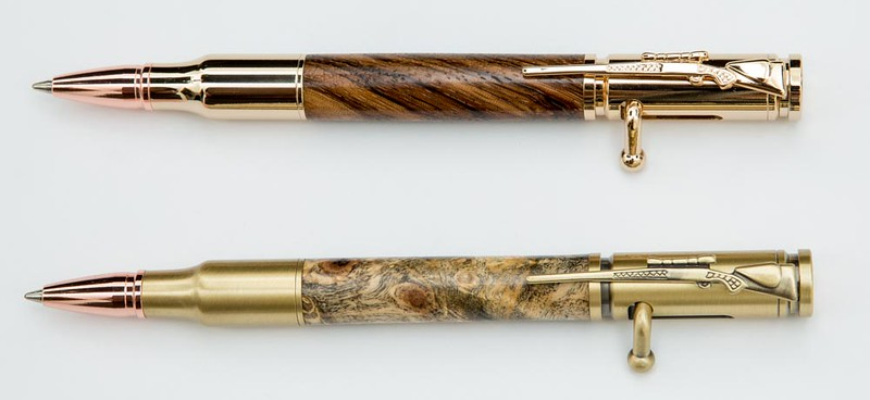 .30 Cal in Zebrawood and .30 Cal in Buckeye Burl