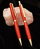 Pink Ivory wood Slimline Pen and Pencil set