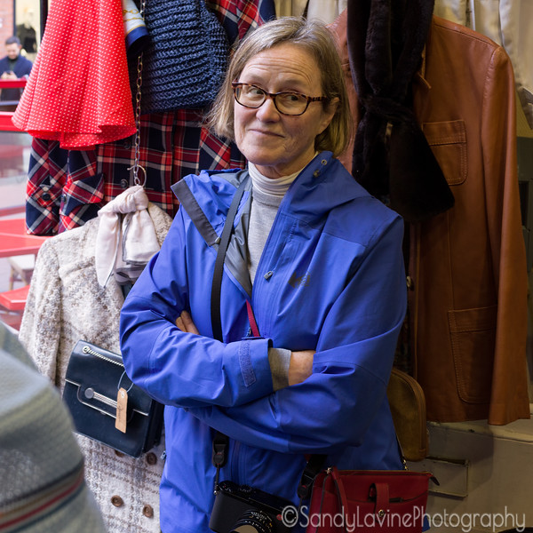 Mary in a Dublin Second Hand Shop