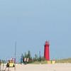Pier Marquette Lighthouse, Lake Michigan, Muskegon, Michigan