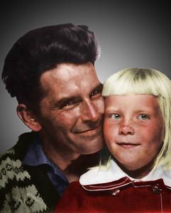 After  (Bilde fra ca. 1960, ca 3x4cm, scannet inn, retusjert og fargelagt.)