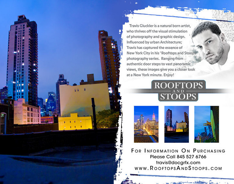 "Travis Gluckler presents Rooftops and Stoops: NYC  First Friday Dec 4th 6pm at SPACE 8 E Charlseton blvd. Las Vegas, NV    <a href=""http://www.rooftopsandstoops.com"">http://www.rooftopsandstoops.com</a>"