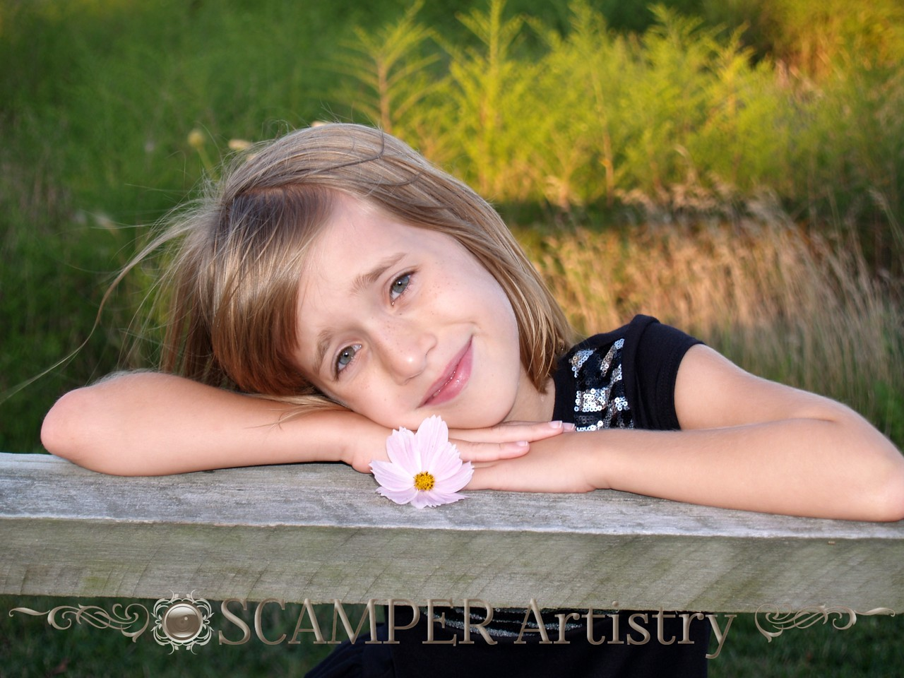 20090820 - Lilly - pose 24 - See full post here:  http://scamperartistry.blogspot.com/2010/05/faces-flowers.html