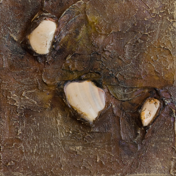"""""""Untitled""""<br /> acrylic, molding paste,  sand, & rock on canvas<br /> 5"""" x 5"""""""