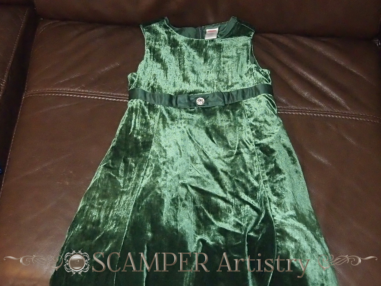 pic1 - Emerald green winter party dress from Gymboree, girls size 7.  Like new.  Asking $4