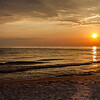 Sunset on Lake Michigan Beach, Whitehall, Michigan<br /> Judy A Davis Photography, Tucson, Arizona