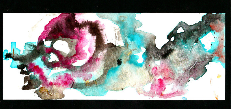 ink & watercolor on paper