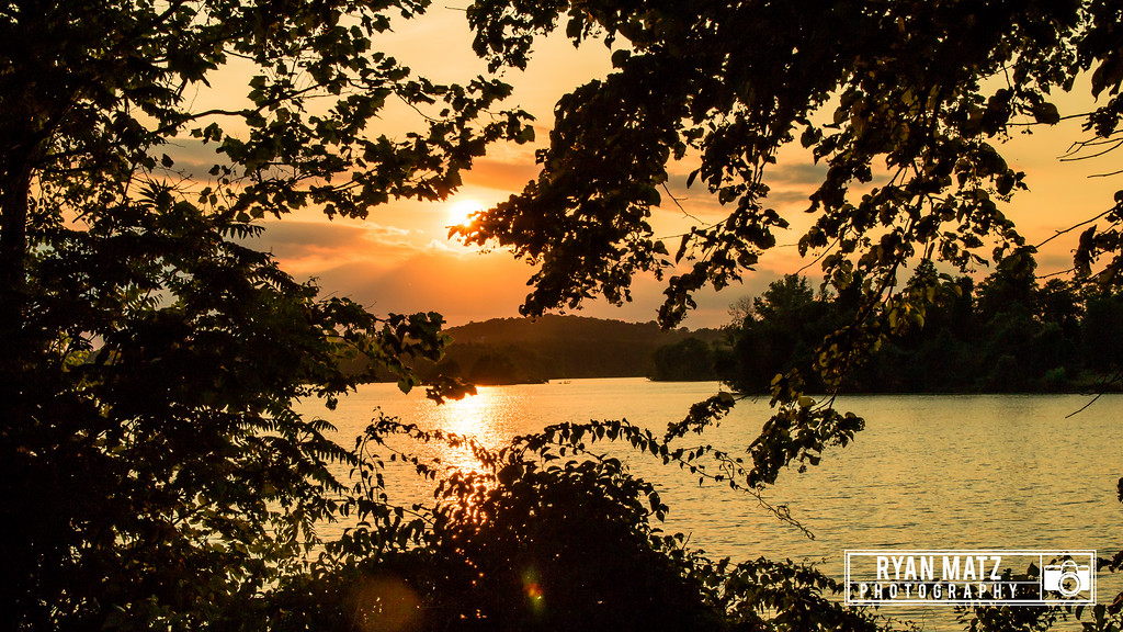 Ontelaunee Lake at sun set.