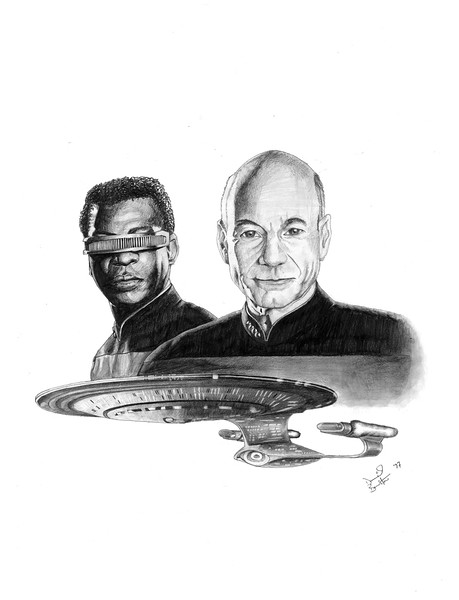 To Boldly Go (prep drawing)