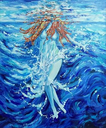 Ocean Currents | Acrylic 50 x 60cm