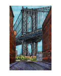 Manhattan Bridge Color